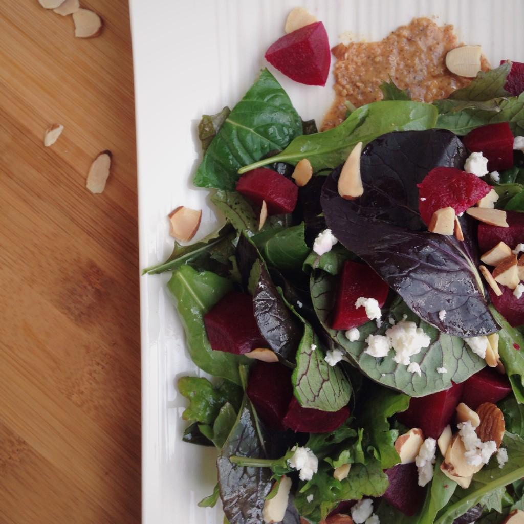 Almond Butter Beet Salad