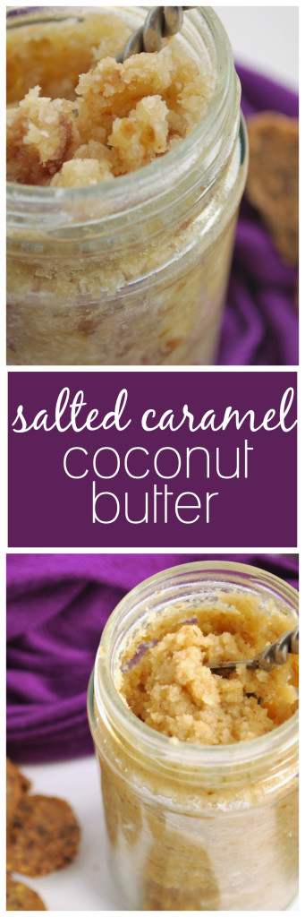 Salted Caramel Coconut Butter: You'll want this creamy, dreamy, coconutty goodness on everything! Add some cocoa to the mix for a gluten free and vegan Samoa Spread! || fooduzzi.com