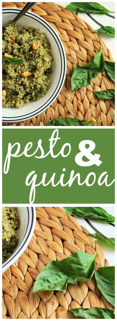 Pesto & Quinoa: Vegan, gluten free, and packed with protein and big flavors! Perfect for a lazy summer meal! || fooduzzi.com