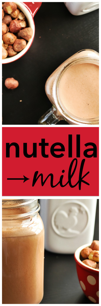 Nutella Milk: An ultra-creamy, five ingredient homemade hazelnut milk that tastes just like Nutella! This gluten free, vegan, and paleo recipe is perfect for breakfast! || fooduzzi.com
