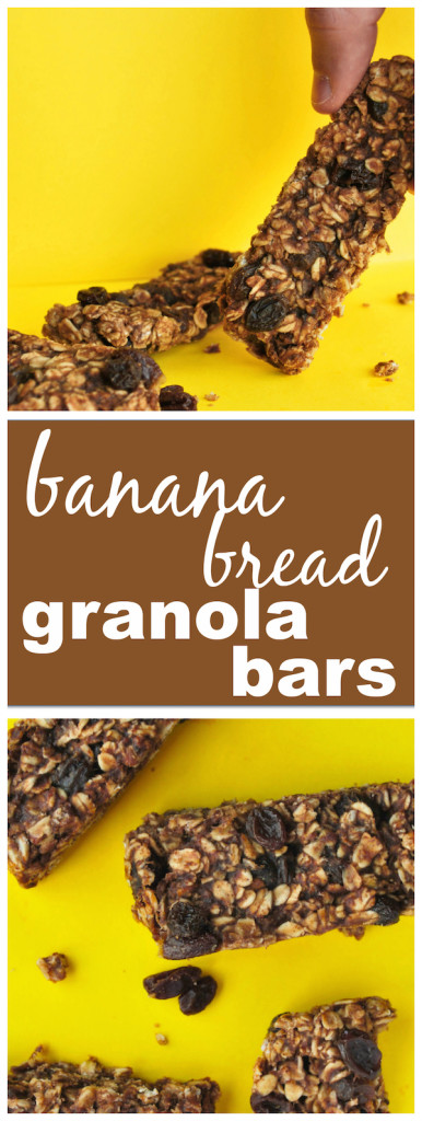 Banana Bread Granola Bars || fooduzzi.com