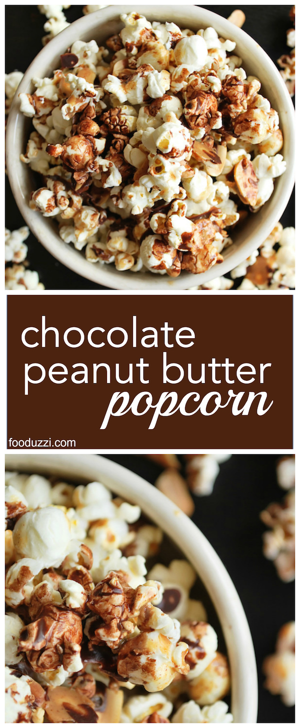 Chocolate Peanut Butter Popcorn - Fooduzzi