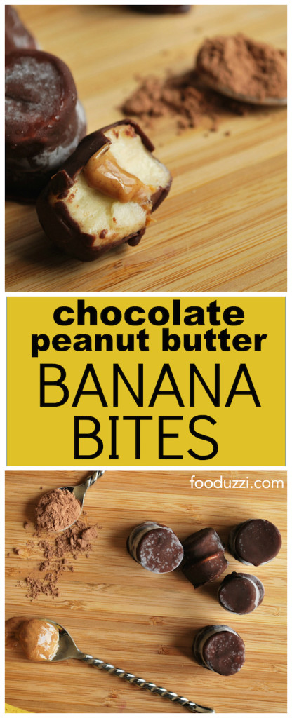 Chocolate Peanut Butter Banana Bites