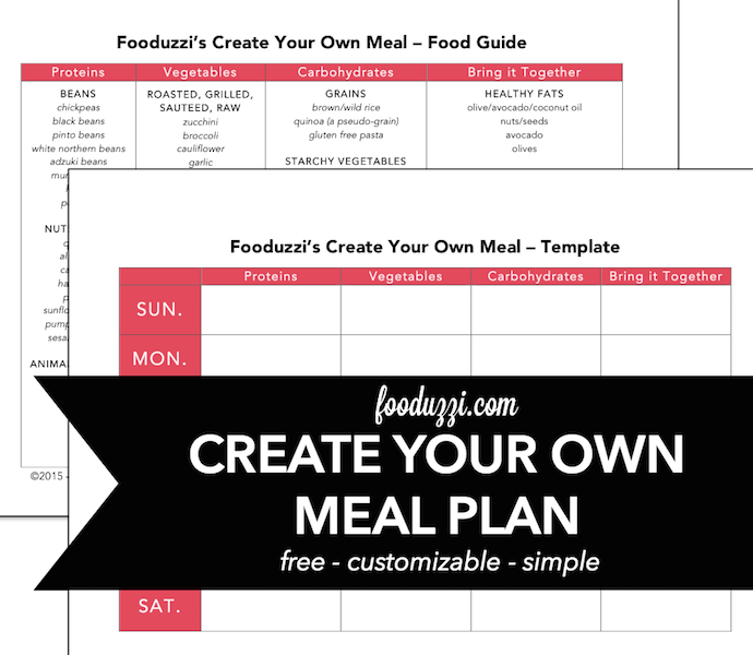 Create your own meal plan fooduzzi for Create my own planner