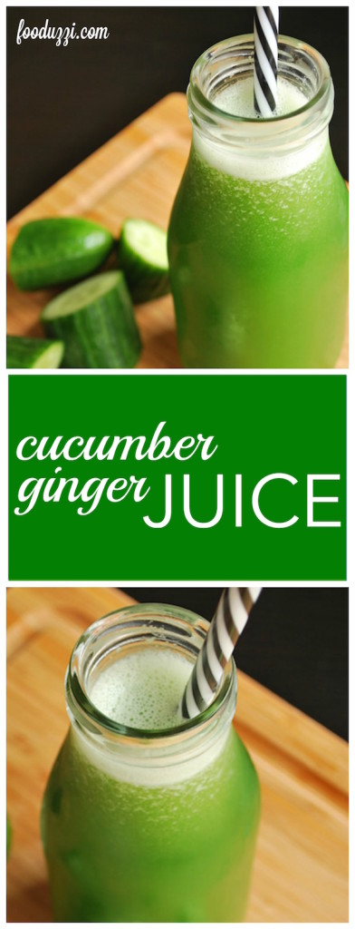 Cucumber Ginger Juice || fooduzzi.com recipes