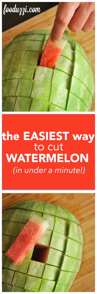 The Easiest Way to Cut Watermelon || fooduzzi.com recipes