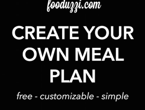 Create Your Own Meal Plan || fooduzzi.com