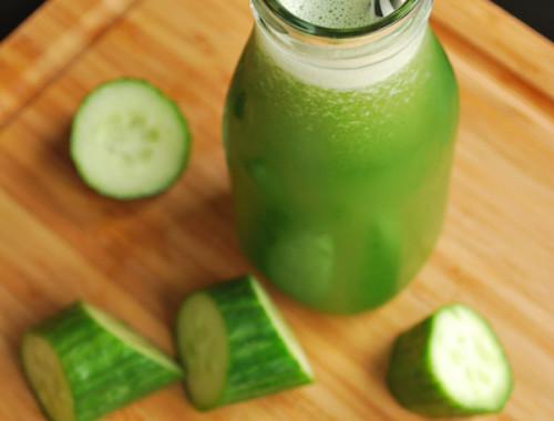 Cucumber Ginger Juice || fooduzzi.com recipes