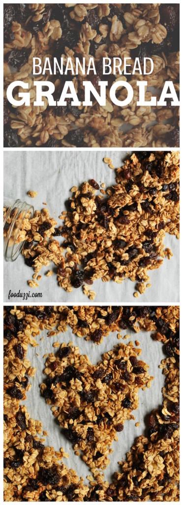 Banana Bread Granola || fooduzzi.com recipes