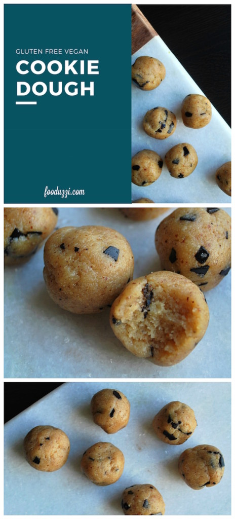 Gluten Free Vegan Cookie Dough || fooduzzi.com recipes