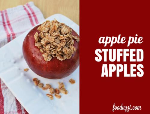 Apple Pie Stuffed Apples    fooduzzi.com recipes