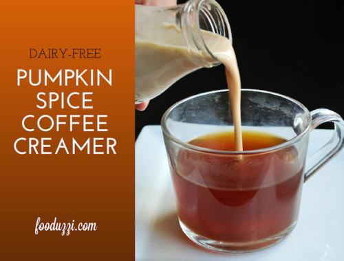 Dairy Free Pumpkin Spice Coffee Creamer || fooduzzi.com recipes