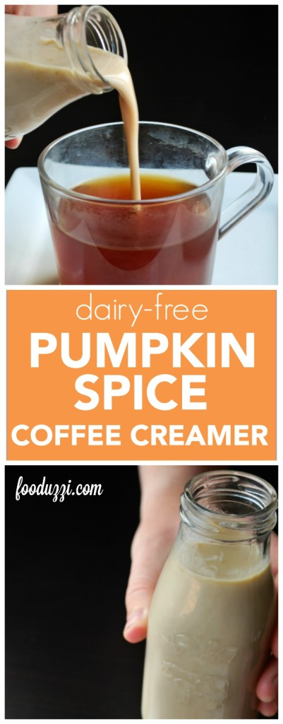 Dairy Free Pumpkin Spice Coffee Creamer || fooduzzi.com recipes