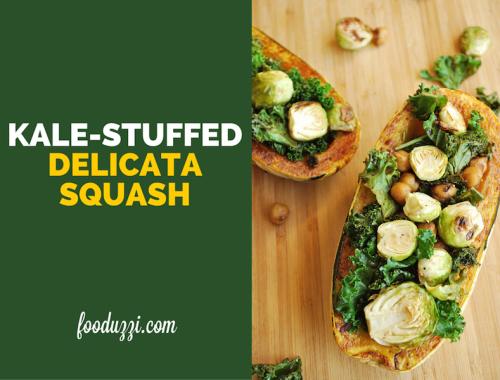 Kale-Stuffed Delicata Squash || fooduzzi.com recipes