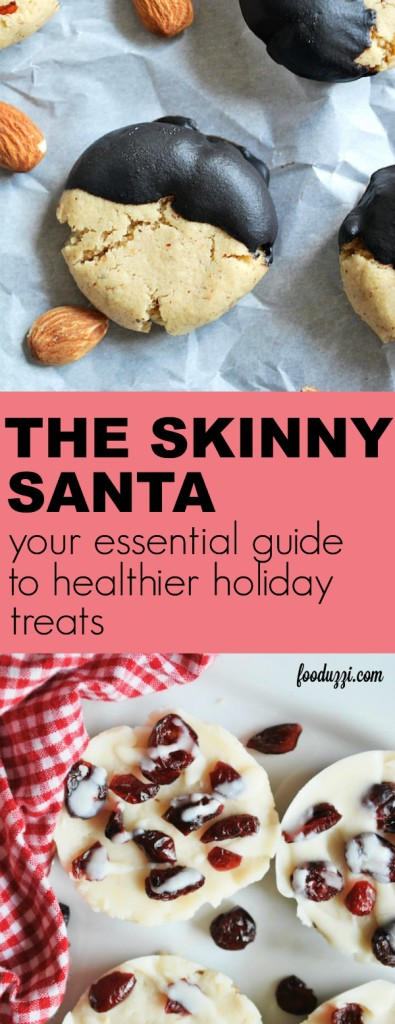 The Skinny Santa eCookbook: your essential guide to healthier holiday treats! All are gluten free and vegan! || fooduzzi.com recipes