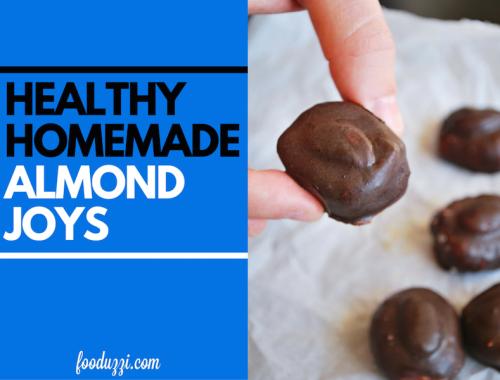 Healthy Homemade Almond Joys || fooduzzi.com recipes
