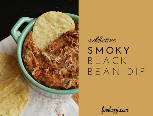 Addictive Smoky Black Bean Dip || fooduzzi.com recipes