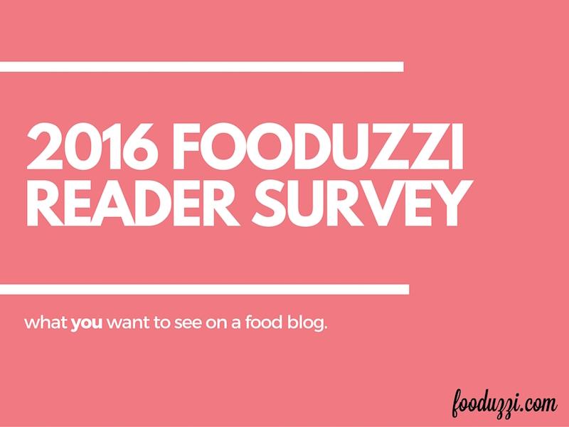 2016 Fooduzzi Reader Survey