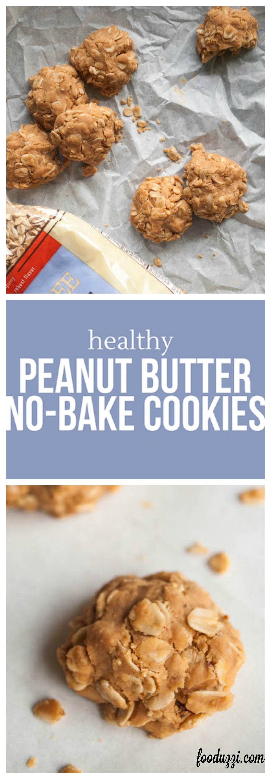 Healthy Peanut Butter No Bake Cookies Fooduzzi