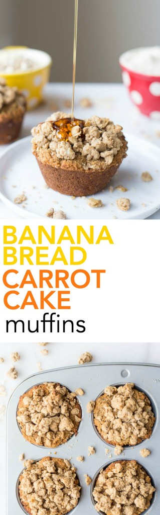 Banana Bread Carrot Cake Muffins: Get in your fruits and veggies in ...