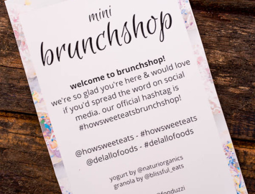 How Sweet Eats Brunchshop Recap