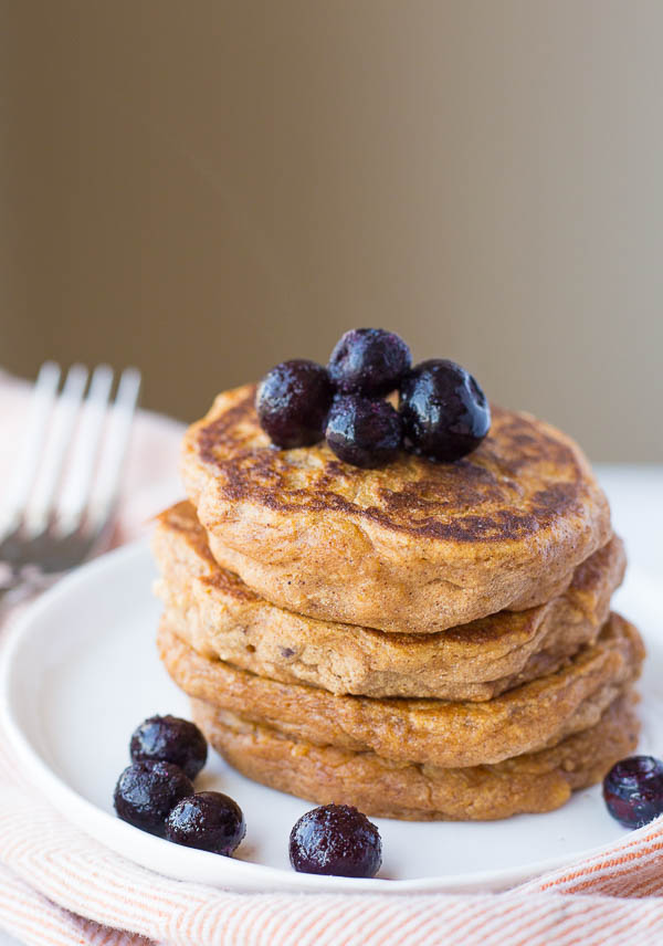 Sweet potato pancakes with peanut butter maple syrup fooduzzi sweet potato pancakes with peanut butter maple syrup these gluten free and vegan pancakes are ccuart Images
