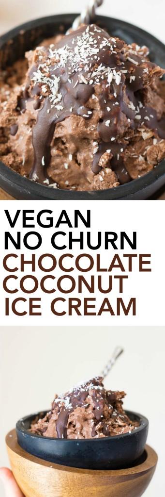 Vegan No Churn Chocolate Coconut Ice Cream