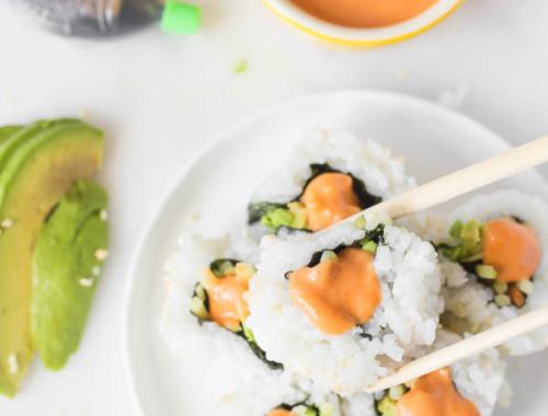 Vegan Sriracha Mayo & Sushi Date Night In!