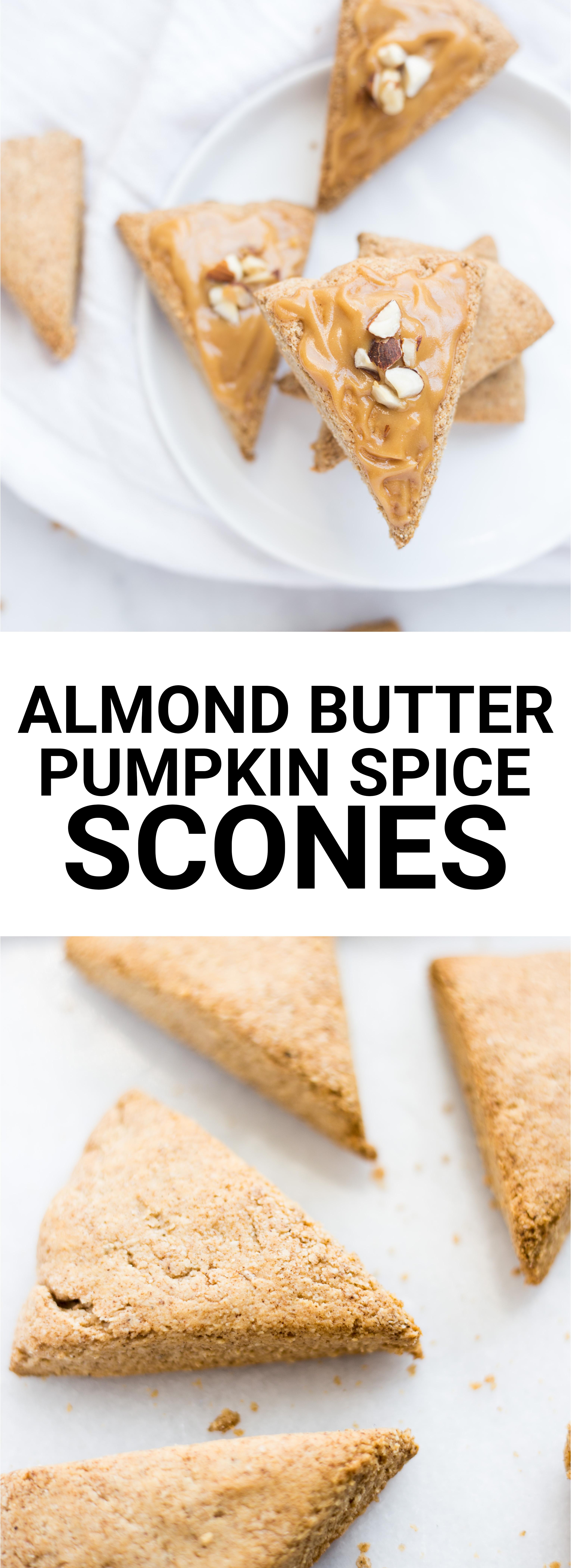 Mini Almond Butter Pumpkin Spice Scones - Fooduzzi
