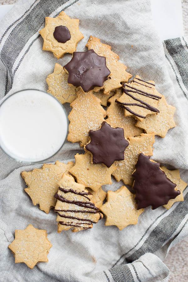 Peanut Butter Cut-Out Sugar Cookies (vegan & gluten free)