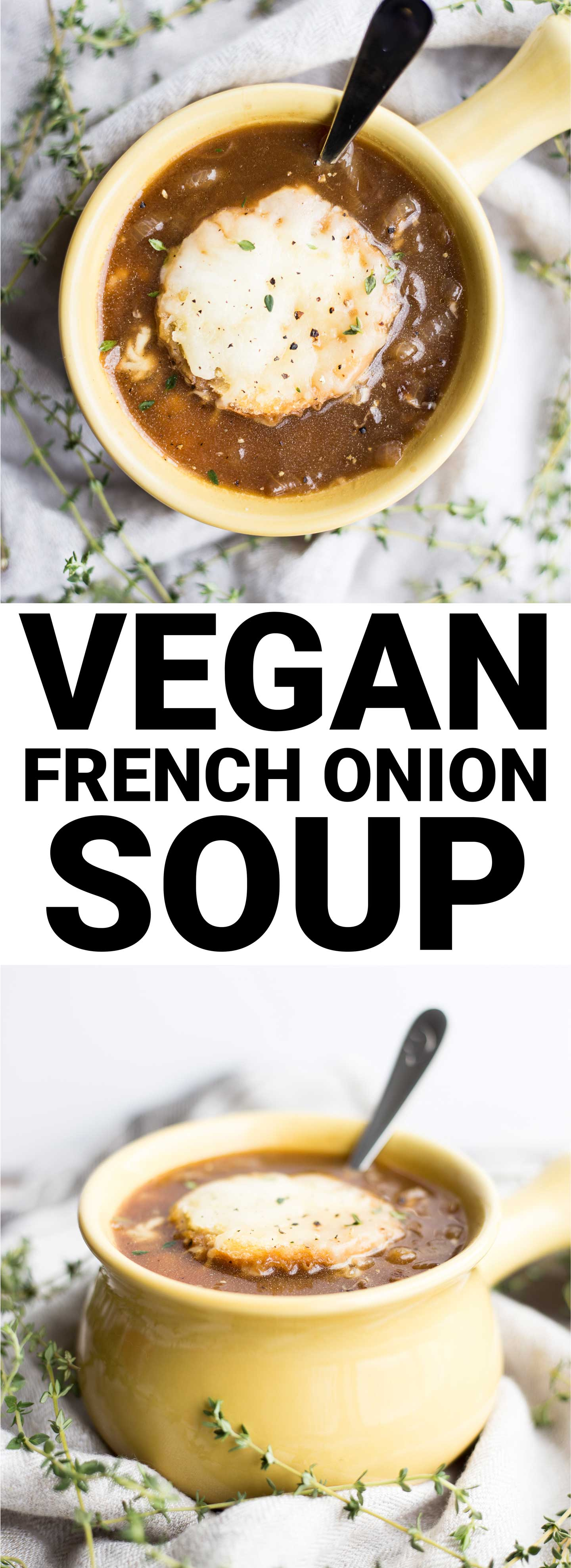 Vegan French Onion Soup - Fooduzzi