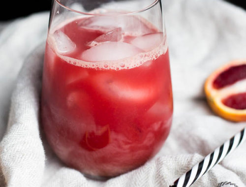 Blood Orange Ginger Juice: A simple and flavorful juice you can make without a juicer! Naturally vegan and gluten free.    fooduzzi.com recipe