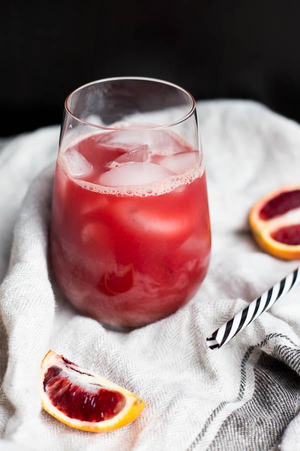 Vegan Blood Orange Ginger Juice