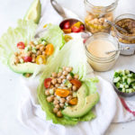 Vegan Greek Chickpea Lettuce Wraps